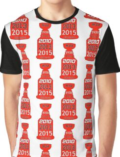 Chicago Blackhawks Stanley Cup Years Graphic T-Shirt