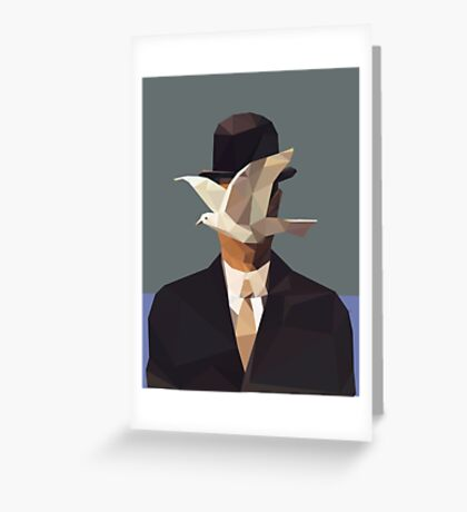 The Man In The Bowler Hat -Magritte- Greeting Card