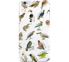 Birds A to Z iPhone Case/Skin