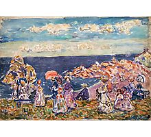 Maurice Prendergast - On the Beach 1907-1909  American Impressionism , Seascape  Photographic Print