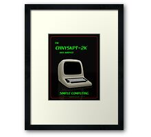 CHNYSKPT-2K Advert Framed Print