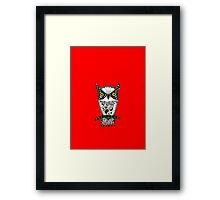 Red Graffiti Owl Framed Print