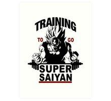 Super Saiyan Training Art Print