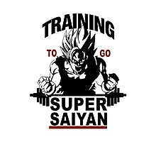 Super Saiyan Training Photographic Print