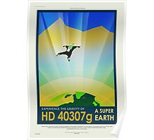 HD 40307g - NASA/JPL Travel Poster Poster