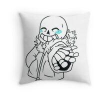 Cute Sans Throw Pillow