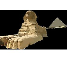 The Sphinx and the Great Pyramid Photographic Print