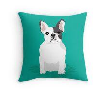 French Bulldog cute dog gift pet friendly custom pet portraits Throw Pillow