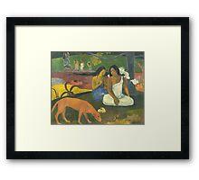 Paul Gauguin - Arearea 1892 Landscape  Framed Print