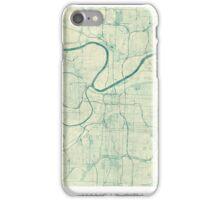 Kansas City Map Blue Vintage iPhone Case/Skin
