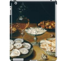 Osias Beert the Elder - Dishes with Oysters, Fruit, and Wine  1620-1625 iPad Case/Skin