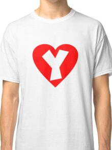 I love Y- Heart Y - Heart with letter Y Classic T-Shirt