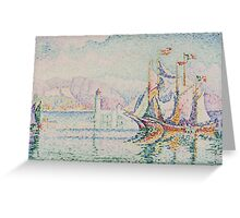 Paul Signac - Antibes. Morning . Provence . French  Seascape Greeting Card