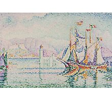 Paul Signac - Antibes. Morning . Provence . French  Seascape Photographic Print