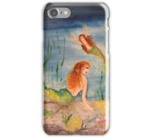 Mermaids treasure hunting iPhone Case/Skin
