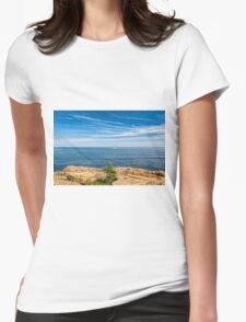 Scenic Maine Coastline Womens Fitted T-Shirt