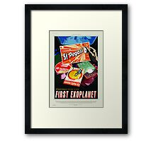 First Exoplanet - NASA/JPL Travel Poster Framed Print