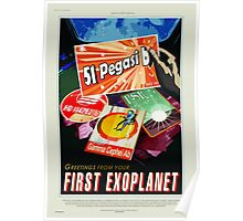 First Exoplanet - NASA/JPL Travel Poster Poster