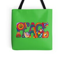 Psychedelic Peace Tote Bag