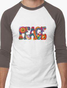 Psychedelic Peace Men's Baseball ¾ T-Shirt