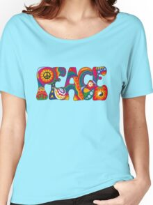 Psychedelic Peace Women's Relaxed Fit T-Shirt