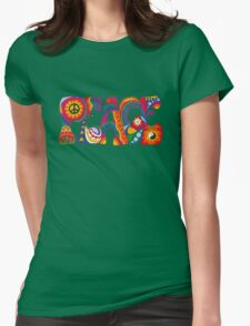 Psychedelic Peace Womens Fitted T-Shirt