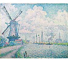 Paul Signac - Canal of Overschie 1906 .Seascape Photographic Print
