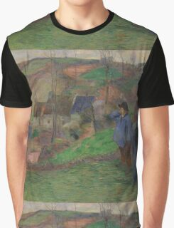 Paul Gauguin - Landscape of Brittany  Graphic T-Shirt