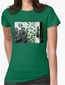 Thoughts of Green before going back to the Black and White Front Womens Fitted T-Shirt