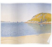 Paul Signac - Port of Saint-Cast . Seascape Poster