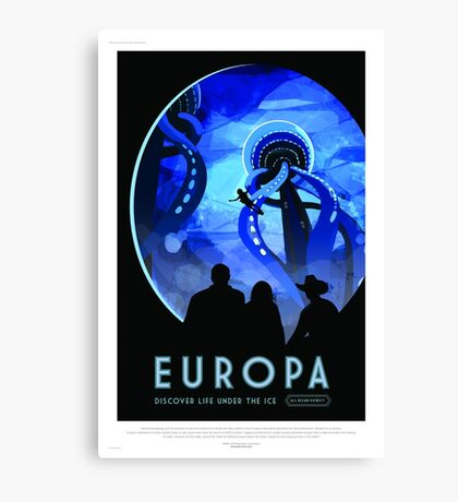 Europa - NASA/JPL Travel Poster Canvas Print
