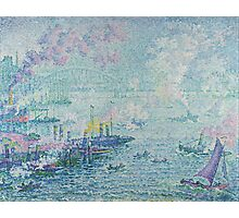 Paul Signac - The Port of Rotterdam . Netherlands.  Seascape  Photographic Print