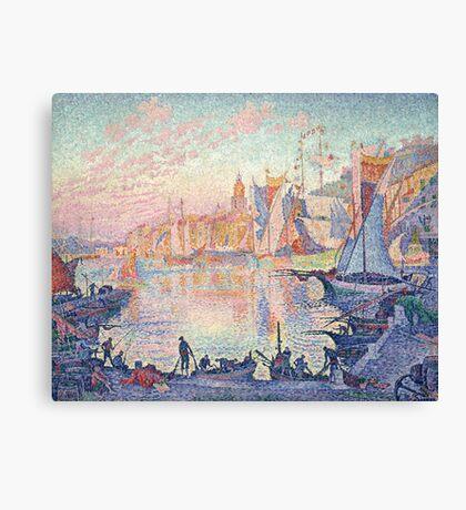 Paul Signac - The Port of Saint-Tropez .  French  Seascape  Canvas Print