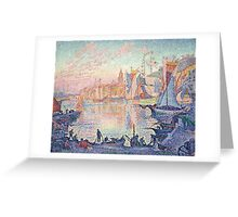 Paul Signac - The Port of Saint-Tropez .  French  Seascape  Greeting Card