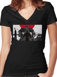 Wolfenstein - Japan Women's Fitted V-Neck T-Shirt