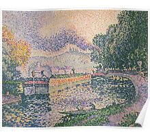 Paul Signac - The Tugboat, Canal in Samois .   Landscape Poster
