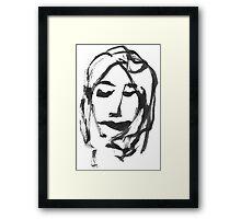 GIRL ONE Framed Print