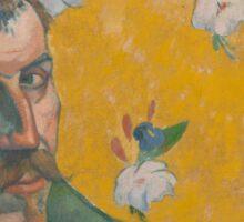 Paul Gauguin - Self-portrait with portrait of Bernard, Les Miserables 1888 Sticker