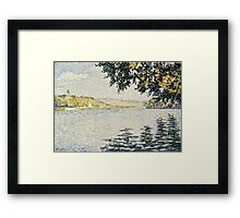 Paul Signac - View of the Seine at Herblay 1889 Framed Print
