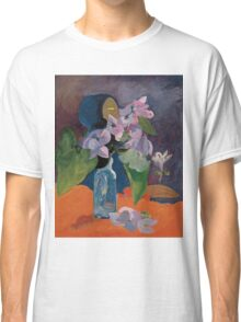 Paul Gauguin - Still Life with Flowers and Idol  1892 Classic T-Shirt