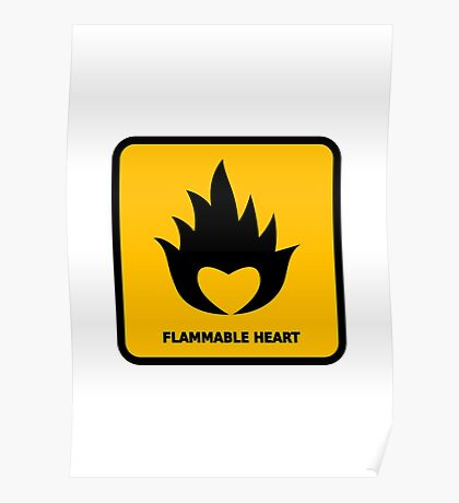 Flammable Heart Poster