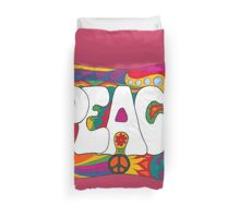Psychedelic Peace and Love Duvet Cover