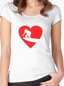 I love Surfing Heart Women's Fitted Scoop T-Shirt