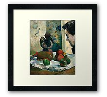 Paul Gauguin - Still Life with Profile of Laval Framed Print