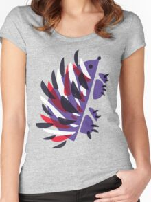Colorful Abstract Hedgehog Women's Fitted Scoop T-Shirt