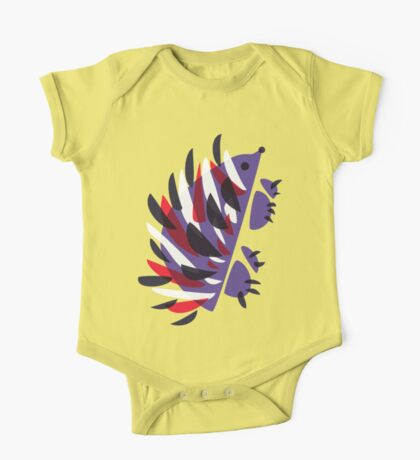 Colorful Abstract Hedgehog One Piece - Short Sleeve