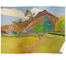 Paul Gauguin - Tahitian Landscape  Poster
