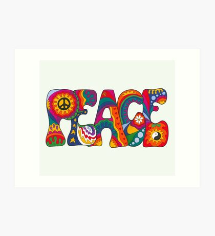 Psychedelic Peace Art Print