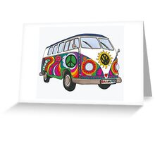 Psychedelic Kombi Greeting Card