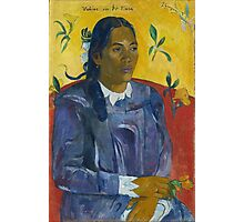 Paul Gauguin - Tahitian Woman with a Flower  Photographic Print